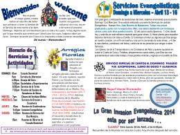 April 6 2014 Bulletin - Iglesia Bautista Puerta La Hermosa