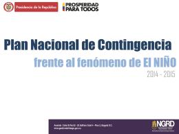 PNC FEN 2014-2015 - Unidad Nacional para la Gestión del Riesgo