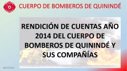 DEL CUERPO DE BOMBEROS DE QUININDE Y SUS COMPAÑIAS