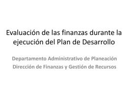 El marco fiscal de mediano plazo en la ejecución de los planes de