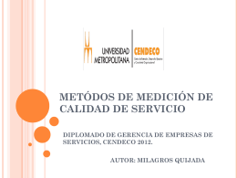 medición de calidad de servicio - diplomado-gerencia