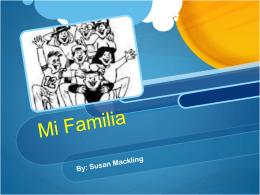 Mi Familia - SusanMackling