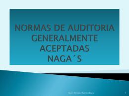 NORMAS DE AUDITORIA GENERALMENTE ACEPTADAS NAGA´S