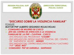 DISCURSO SOBRE LA VIOLENCIA FAMILIAR
