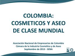 COLOMBIA: COSMETICOS Y ASEO DE CLASE MUNDIAL