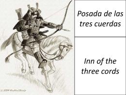 La posada de las tres cuerdas vocabulario