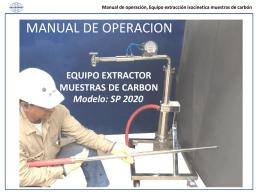 Manual de operación, Equipo extracción isocinetica