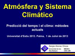 Atmósfera y Sistema Climático