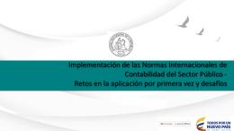 Implementación de las Normas Internacionales de Contabilidad del