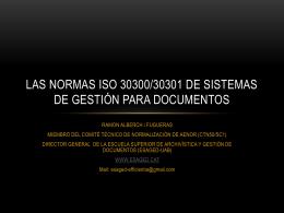 LAS NORMAS ISO 30300/30301