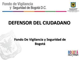 Diapositiva 1 - Fondo de Vigilancia y Seguridad