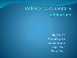 Relieve continental y submarino