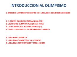 INTRODUCCION AL OLIMPISMO - Comité Olímpico Dominicano
