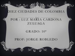 DIEZ CIUDADES DE COLOMBIA (2022481)