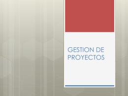 GESTION DE PROYECTOS - Programa Promoción de la Salud