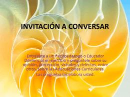 INVITACIÓN A CONVERSAR