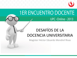 desafíos de la docen... - Repositorio Académico UPC