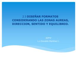 2.3 DISEÑAR FORMATOS CONSIDERANDO LAS ZONAS AUREAS