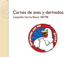 Carnes de aves y derivados - FCQ