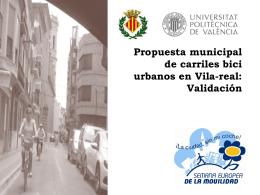 propuesta de carril bici - Ajuntament de Vila-real