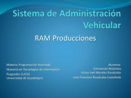 Sistema de Administracin Vehicular