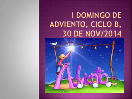 I DOMINGO DE ADVIENTO, CICLO B