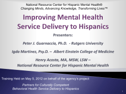 Latino Mental Health Issues - National Resource Center for Hispanic