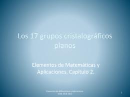 Los 17 grupos cristalográficos planos