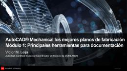 Detallando planos de AutoCAD