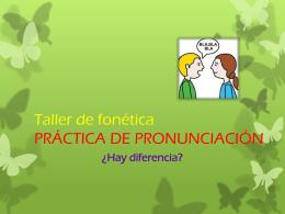 Taller de fonetica