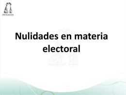 Nulidades 2012 - Tribunal Estatal Electoral