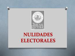 Modulo 4 Nulidades electorales - Tribunal Electoral del Estado de