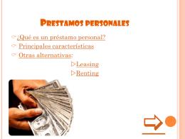 ¿que son los prestamos personales?
