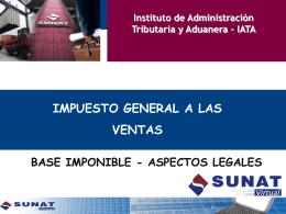 la base imponible en la ley del igv