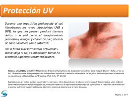 PPT Protección UV
