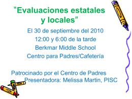 Evaluaciones estatales y locales