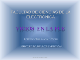 Diapositiva 1 - FHS-FCE