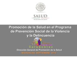 michoacan de ocampo - Dirección General de Promoción de la Salud