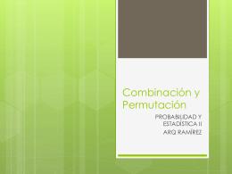 Combinación y Permutación