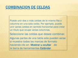 COMBINACION DE CELDAS.