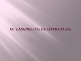 EL VAMPIRO EN LA LITERATURA
