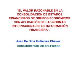 El valor razonable en la consolidación de estados financieros de