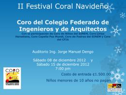 información - Colegio Federado de Ingenieros y Arquitectos