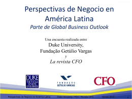 Slide 1 - Duke CFO Global Business Outlook