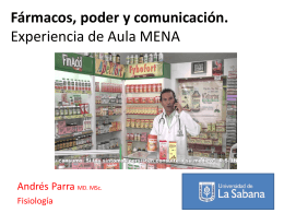 Fármacos, poder y comunicación. Experiencia de Aula MENA