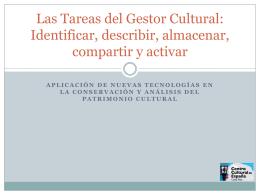 Las tareas del gestor cultural