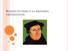 Martín Lutero y la reforma protestante