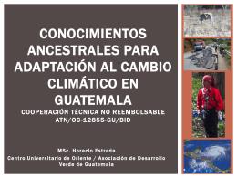 Conocimientos Ancestrales para Adaptación al Cambio Climático