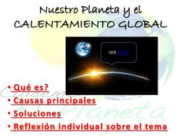 Nuestro Planeta y el CALENTAMIENTO