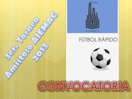 CONVOCATORIA 3er. TORNEO - asociación de industriales